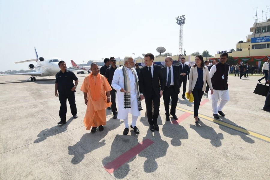Narendra Modi,Prime Minister Narendra Modi,French President Emmanuel Macron,Emmanuel Macron,Modi receives Emmanuel Macron