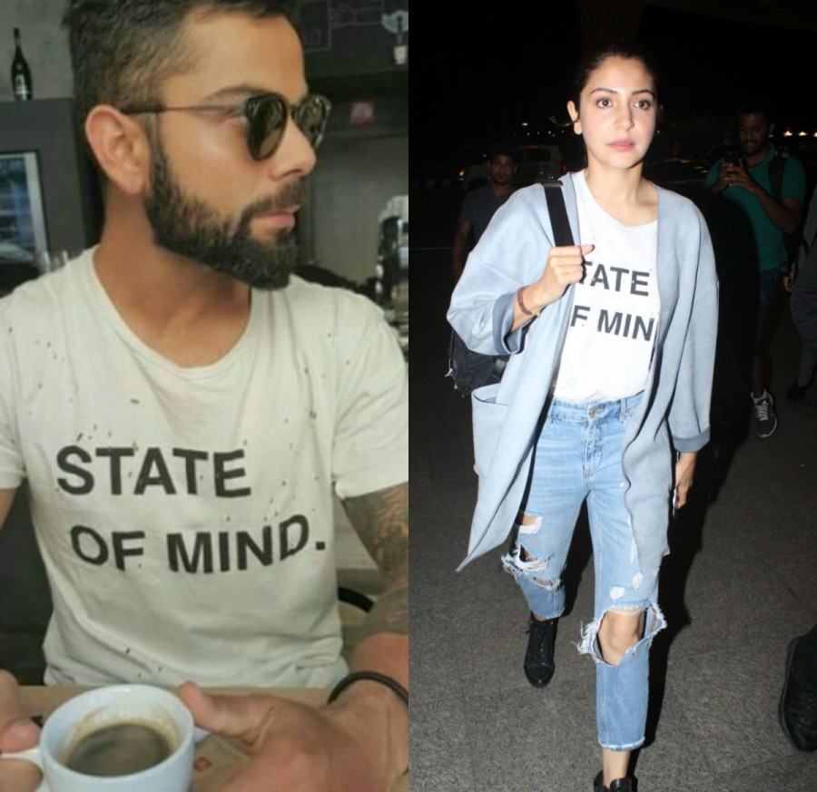 Anushka Sharma,Anushka Sharma and Virat Kohli,Anushka Sharma wore Virat Kohli's t-shirt,Anushka Sharma at airport,Anushka Sharma at Mumbai airport,Virat Kohli