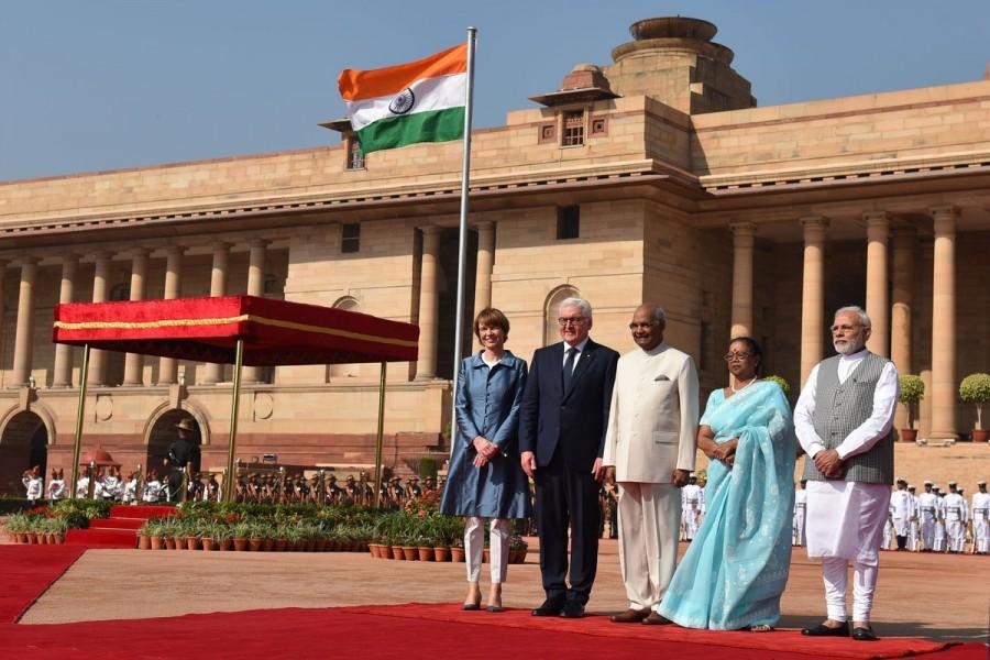 German President Frank-Walter Steinmeier,Frank-Walter Steinmeier,Frank-Walter Steinmeier in India,Ram Nath Kovind,Prime Minister Narendra Modi,Narendra Modi,PM Narendra Modi