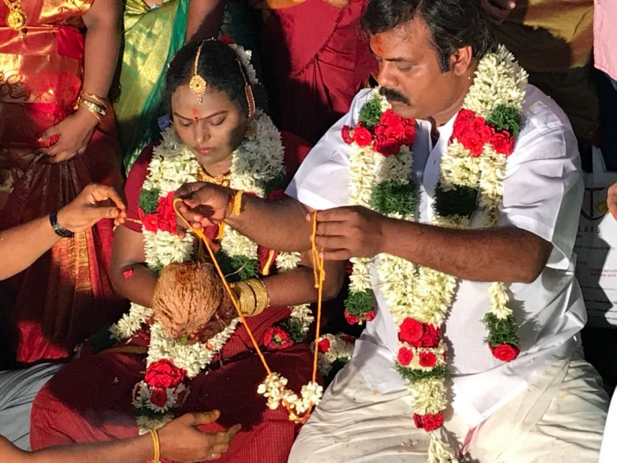 Comedian Munishkanth,Munishkanth,Munishkanth wedding,Munishkanth marriage,Munishkanth weds Thenmozhi,Munishkanth and Thenmozhi