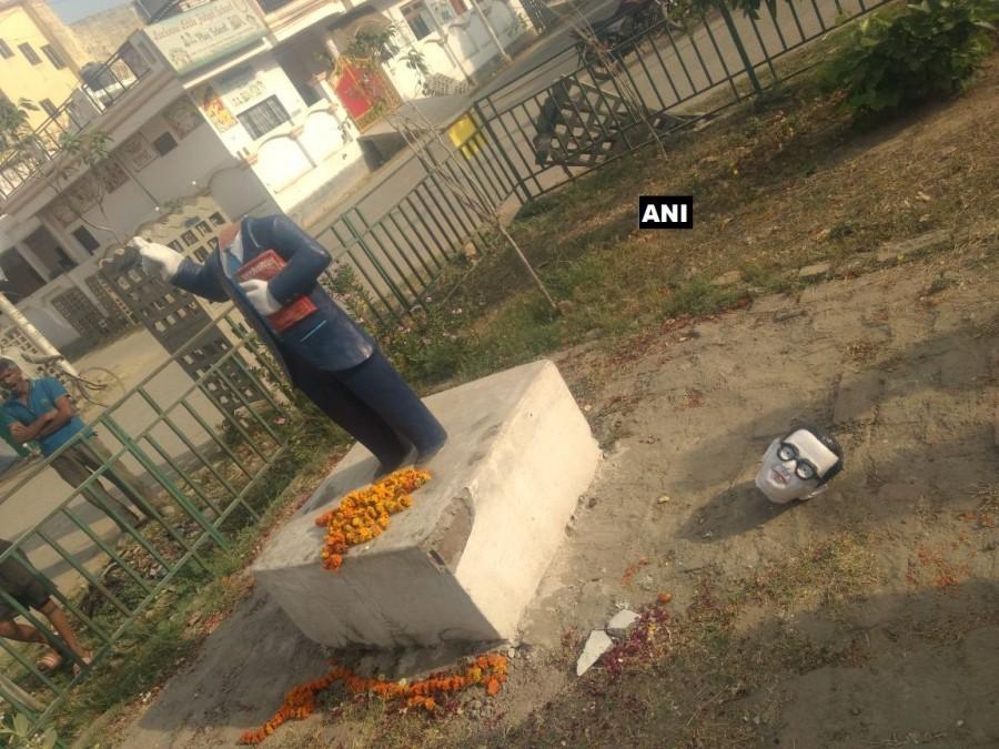 Ambedkar statue,Ambedkar statue vandalised,Bhimrao Ramji Ambedkar,Dalit icon Bhimrao Ramji Ambedkar,Dalit icon Ambedkar