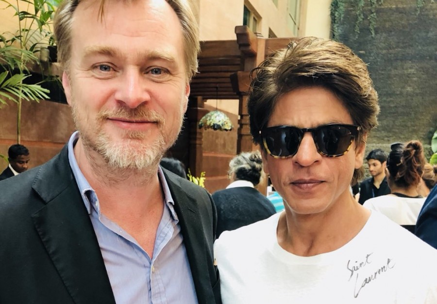 Christopher Nolan,Shah Rukh Khan,Shah Rukh Khan with Christopher Nolan,SRK with Christopher Nolan,Shah Rukh Khan fanboy moment,Dunkirk director Christopher Nolan,Dunkirk director