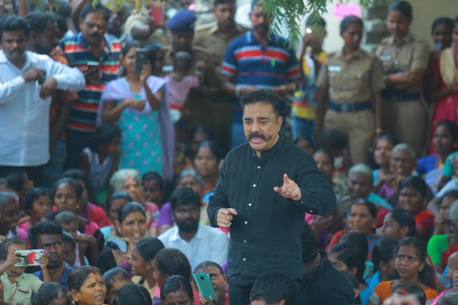 Kamal Hassan,actor Kamal Hassan,Sterlite protest,Sterlite protest at Thoothukudi,Thoothukudi,Kamal Hassan at Sterlite protest