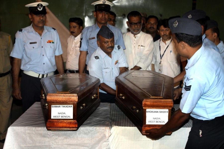 Mortal remains,Mortal reaches Amritsar,Islamic State terror group,Mosul,Islamic State in Mosul,IAF aircraft