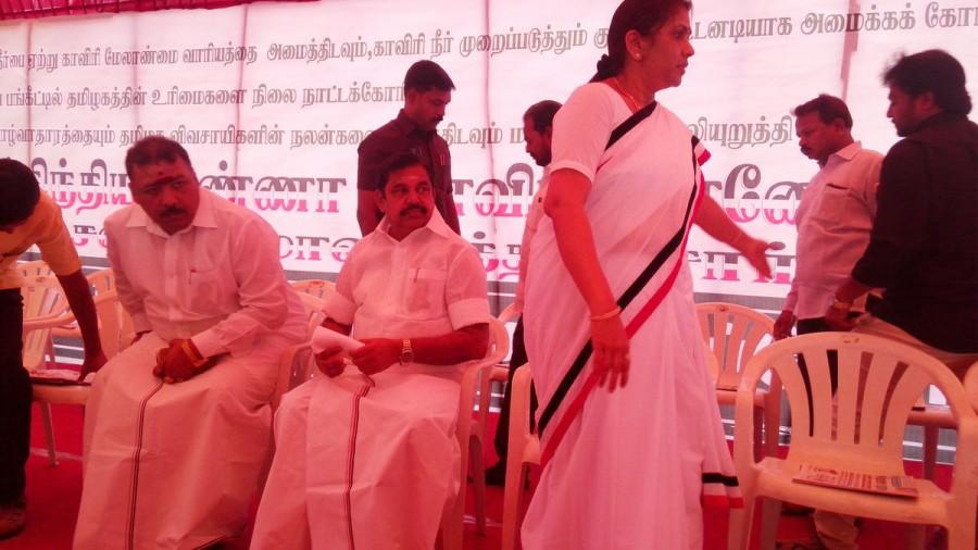 Palaniswami and Panneerselvam,Palaniswami,Panneerselvam,Edappadi Palaniswami,Cauvery protest,TN Cauvery protest,Cauvery Mangement Board,AIADMK,AIADMK protest