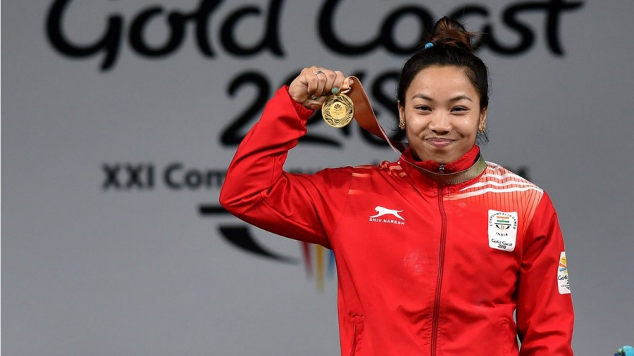 Mirabai Chanu,Mirabai Chanu weightlifter CWG 2018,Mirabai Chanu wins gold World Weightlifting Championship,Lifter Chanu wins gold,Commonwealth Games 2018