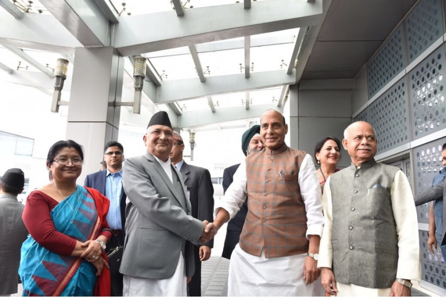 Nepal PM KP Sharma Oli,KP Sharma Oli,KP Sharma Oli  in India,Nepal PM in Delhi,Radika Shakya,Union Home Minister Rajnath Singh,Rajnath Singh