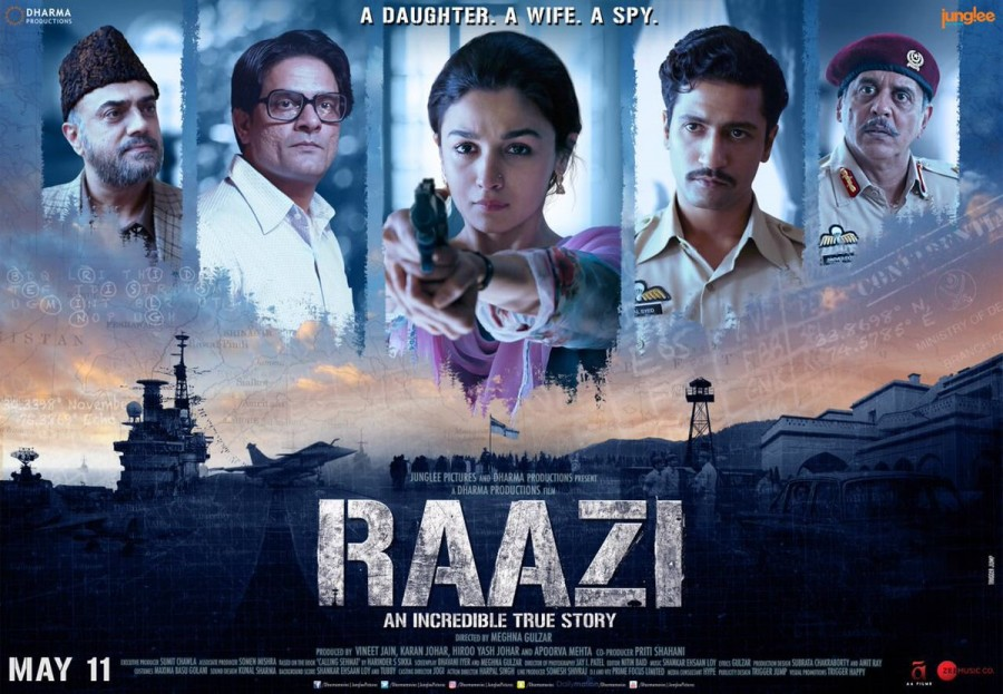 Raazi first look,Raazi first look poster,Raazi poster,Raazi movie poster,Alia Bhatt,Vicky Kaushal,Alia Bhatt and Vicky Kaushal