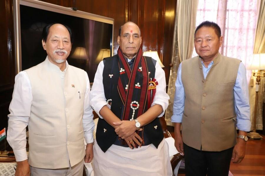 Nagaland CM Neiphiu Rio,Neiphiu Rio,Union Home Minister Rajnath Singh,Rajnath Singh,Nagaland CM,Nagaland Chief Minister
