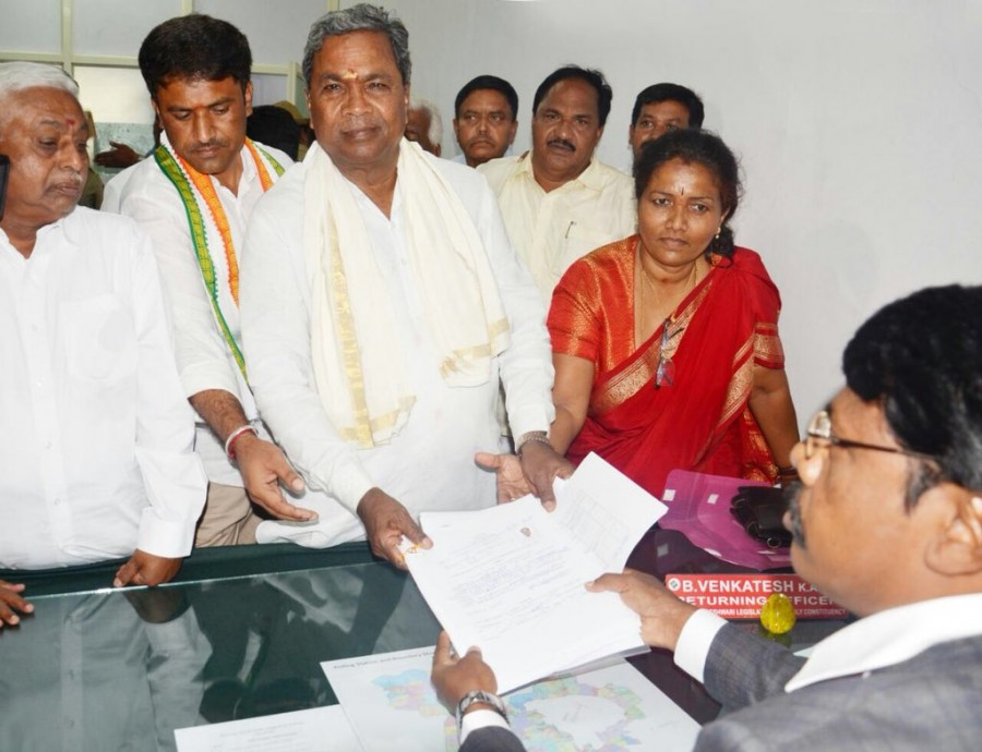 CM Siddaramaiah,Karnataka Chief Minister Siddaramaiah,Karnataka CM Siddaramaiah,Siddaramaiah,Siddaramaiah files nomination,Karnataka elections,Siddaramaiah Chamundeshwari seat,Legislative Assembly elections