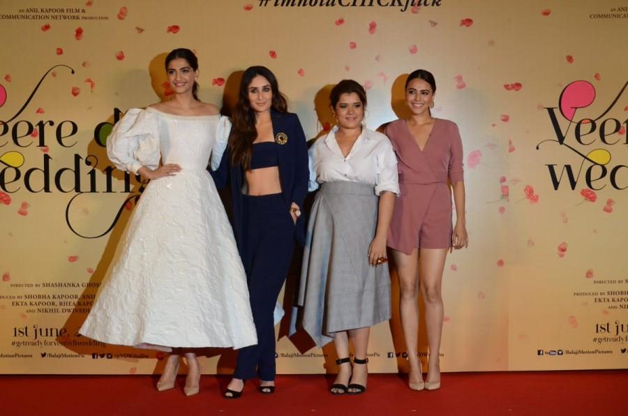 Kareena Kapoor,Sonam Kapoor,Swara Bhaskar,Veere Di Wedding,Veere Di Wedding trailer,Veere Di Wedding trailer launch,Veere Di Wedding trailer launch pics,Veere Di Wedding trailer launch images,Shikha Talsania