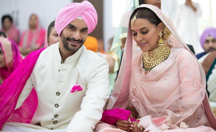 Neha Dhupia-Angad Bedi wedding pics are too cute - Photos ...