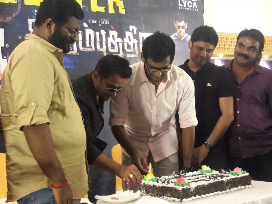 Vishal,Action King Arjun,Editor Ruben,Kaali Venkat,Robo Shankar,Irumbu Thirai,Irumbu Thirai success meet,Irumbu Thirai success meet pics,Irumbu Thirai success meet images,Irumbu Thirai success meet photos,Irumbu Thirai success meet stills