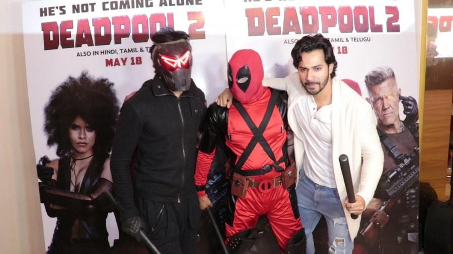 Varun Dhawan,actor Varun Dhawan,Deadpool 2 special screening,Deadpool 2,Harshvardhan Kapoor,Deadpool 2 special screening pics,Deadpool 2 special screening images,Deadpool 2 special screening stills