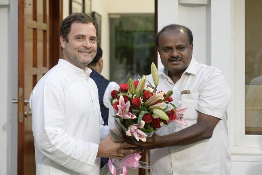 Kumaraswamy,H.D. Kumaraswamy,Rahul Gandhi,sonia gandhi,UPA Chairperson Sonia Gandhi,Congress President Rahul Gandhi,CM Kumaraswamy