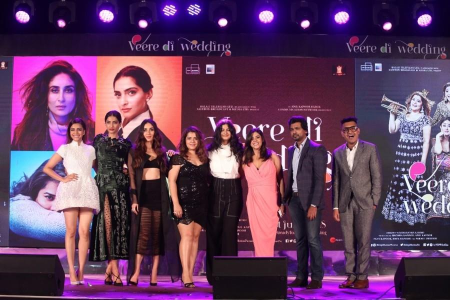 Sonam Kapoor Ahuja,Kareena Kapoor Khan,Shikha Talsania,Veere Di Wedding,Veere Di Wedding music launch,Veere Di Wedding music launch pics,Veere Di Wedding music launch images