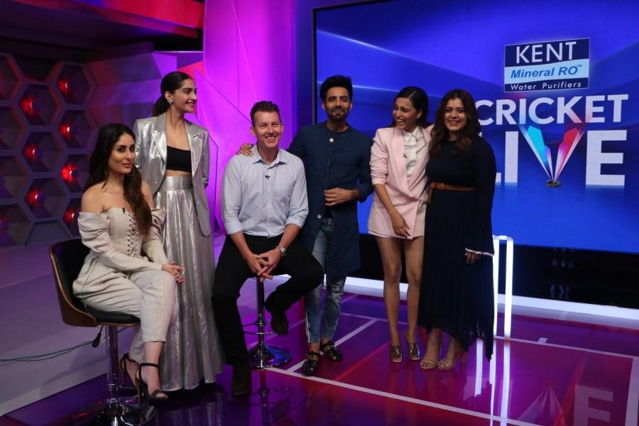 Kareena Kapoor Khan,Sonam Kapoor,Swara Bhaskar,Shikha Talsania,Kent Cricket Live,Brett Lee,Darren Sammy,Veere Di Wedding,veere di wedding actress