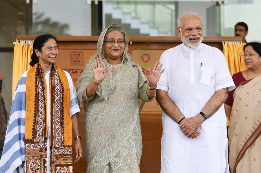 Narendra Modi,Bangladesh PM Sheikh Hasina,.Sheikh Hasina,Bangladesh Bhavan,Santi Niketan
