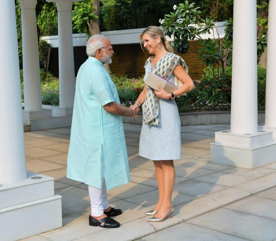 Narendra Modi,PM Narendra Modi,Modi meets Queen Maxima,Queen Maxima,Queen Maxima of Netherlands,UN Secretary-General