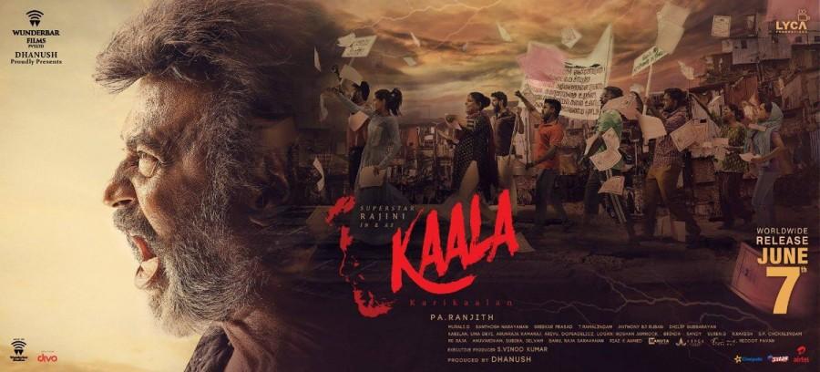 Rajinikanth,Superstar Rajinikanth,Kaala,Kaala poster,Kaala release poster,Kaala movie poster