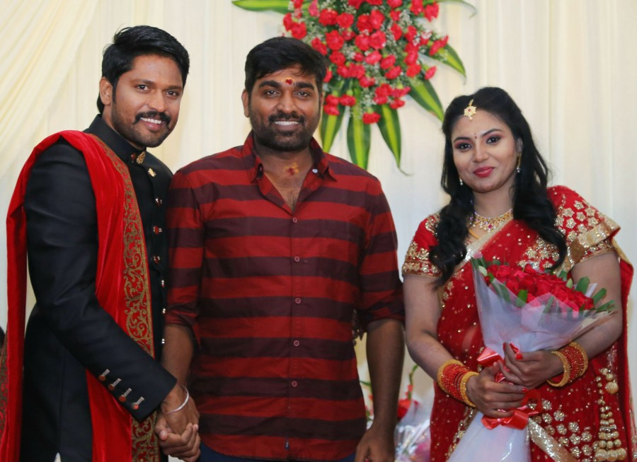 Vishal,Vijay Sethupathi,Vijay Antony,Arya,Bharath,Soundararaja and Tamanna,Soundararaja and Tamanna wedding receptionk,Soundararaja and Tamanna wedding reception pics,Soundararaja and Tamanna wedding reception images