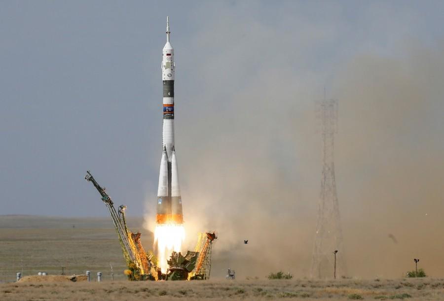 Russian Soyuz capsule,Russian Soyuz rocket,Soyuz rocket,Soyuz MS-09,MS-09 spacecraft,Alexander Gerst,Soyuz blasts off