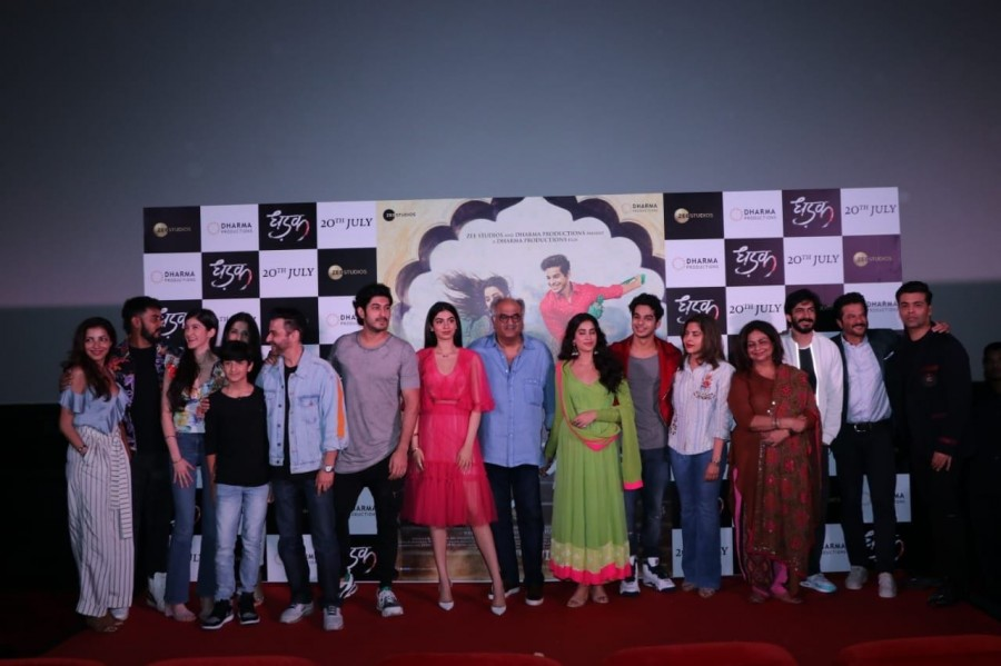 Janhvi Kapoor,Ishaan Khatter,Karan Johar,Dhadak Trailer launch,Dhadak Trailer,Dhadak Trailer launch pics,Dhadak Trailer launch images,Dhadak Trailer launch photos,Dhadak Trailer launch pictures