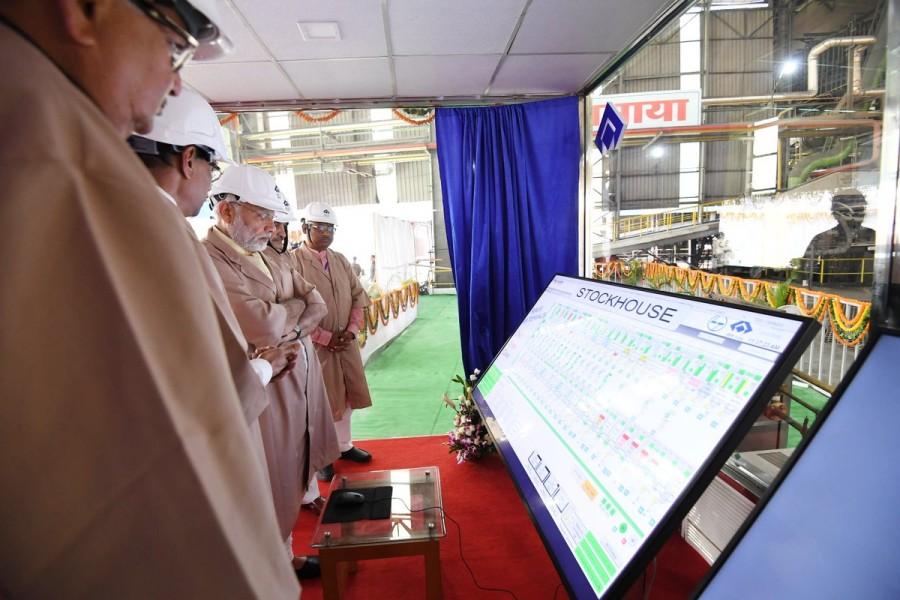 PM Narendra Modi,Narendra Modi,Bhilai Steel Plant,Modi inaugurates Bhilai Steel Plant,Bhilai Steel Plant in Chhattisgarh,Modi in Chhattisgarh,Bhilai Steel Plant extension