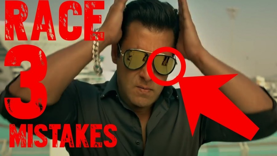 Salman Khan,actor Salman Khan,Salman Khan mistakes,Race 3 mistakes,Race 3 movie mistakes,funny mistakes in Race 3,mistakes Race 3,Race 3 silly mistakes