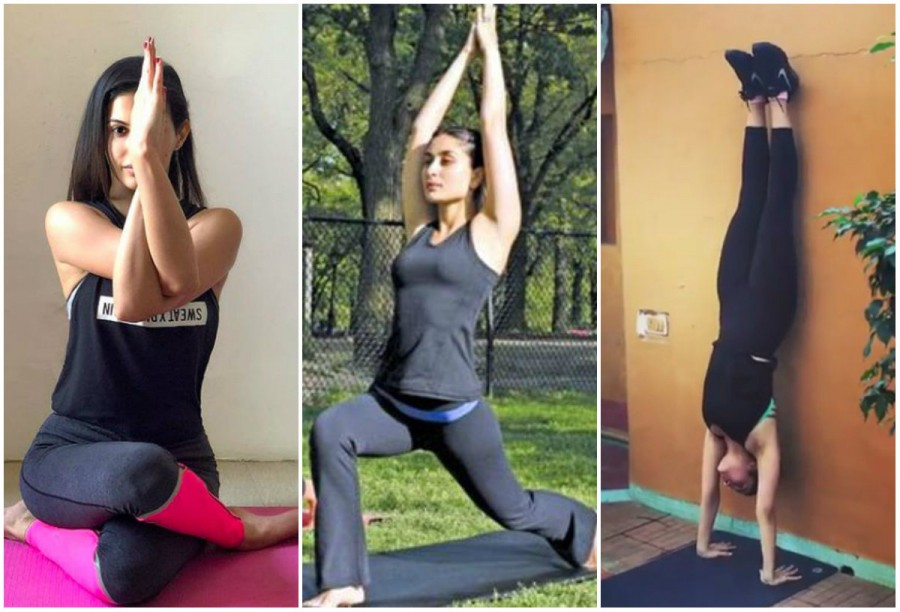 Kareena Kapoor,Alia Bhatt,Amyra Dastur,Nargis Fakhri,Jacqueline Fernandez,World Yoga Day 2018,World Yoga Day,celebs doing yoga,World Yoga Day pics,World Yoga Day images,World Yoga Day stills,World Yoga Day pictures,World Yoga Day photos