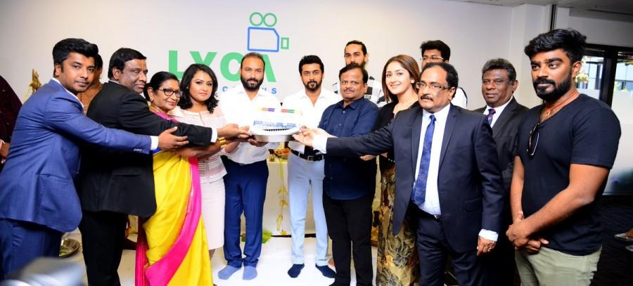 KV Anand,Suriya 37,Suriya,Suriya 37 movie launch,suriya sivakumar,Mohanlal,Boman Irani,Sayyeshaa,Suriya 37 pooja,Suriya 37 movie pooja