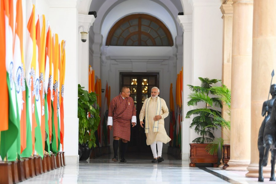 Modi meets Tshering Tobgay,Tshering Tobgay,Tshering Tobgay in India,Tshering Tobgay with Modi,Narendra Modi meets Bhutan PM