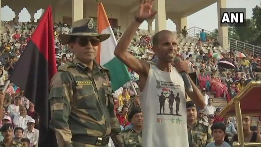 Ultra-Marathon runner Sameer Singh,Ultra-Marathon runner,Sameer Singh,Sameer Singh gets felicitated,Attari-Wagah border