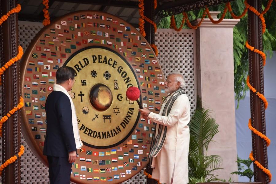 Narendra Modi,PM Narendra Modi,South Korean President Moon Jae-in,Moon Jae-in,Moon Jae-in visits Gandhi Smriti,Gandhi Smriti,Mahatma Gandhi