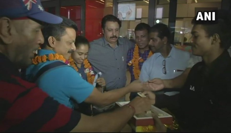 Gymnast Dipa Karmakar,Dipa Karmakar returns to India,Dipa Karmakar golden win,Gymnastics World Challenge Cup,FIG Artistic Gymnastics,World Cup Challenge Cup
