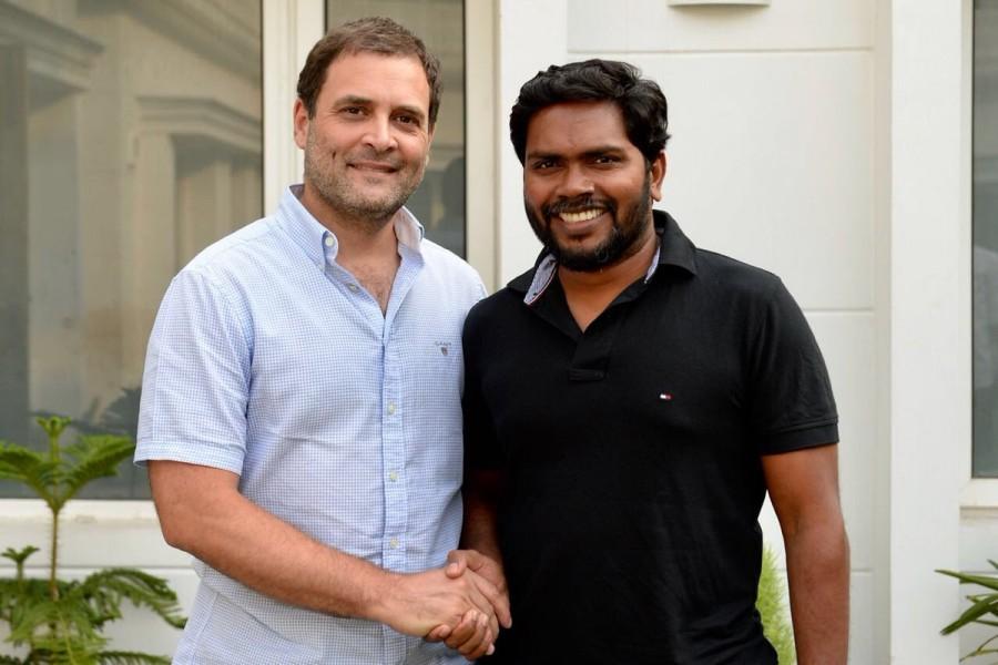 Rahul Gandhi meets Pa Ranjith,Pa Ranjith,Rahul Gandhi,Rajinikanth,Kaala,Kaala director,Kalaiyarasan,Rahul Gandhi meets Kalaiyarasan,Kalaiyarasan meets Rahul