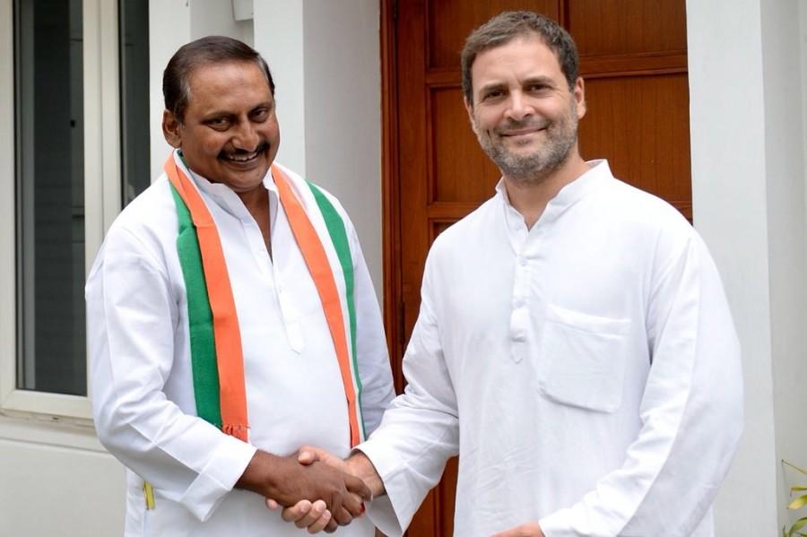 Former AP CM Kiran Kumar Reddy,N. Kiran Kumar Reddy,Kiran Kumar Reddy rejoins Congress,Congress,Rahul Gandhi