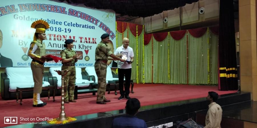 Anupam Kher,actress Anupam Kher,CISF golden jubilee celebration,Anupam Kher at CISF golden jubilee celebration,CISF golden jubilee celebration pics,CISF golden jubilee celebration images,CISF golden jubilee celebration stills