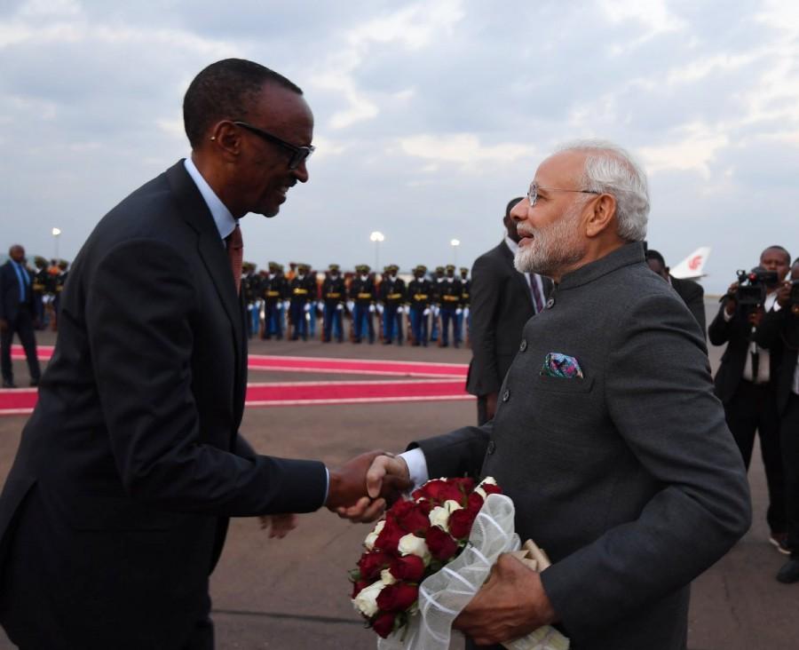 PM Narendra Modi,Narendra Modi,Indian prime minister,Modi,Modi arrives in Rwanda,Modi in Rwanda