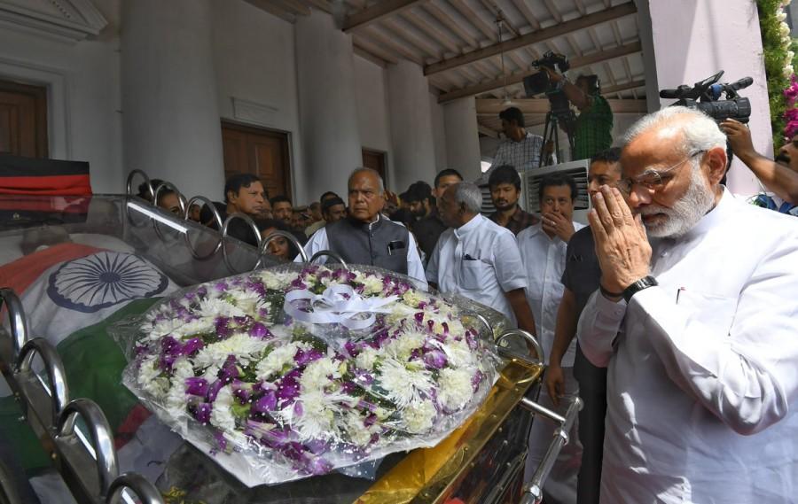 Narendra Modi,Karunanidhi,karunanidhi funeral,Karunanidhi funeral pics,Karunanidhi funeral images,Karunanidhi funeral stills,celebs at Karunanidhi funeral