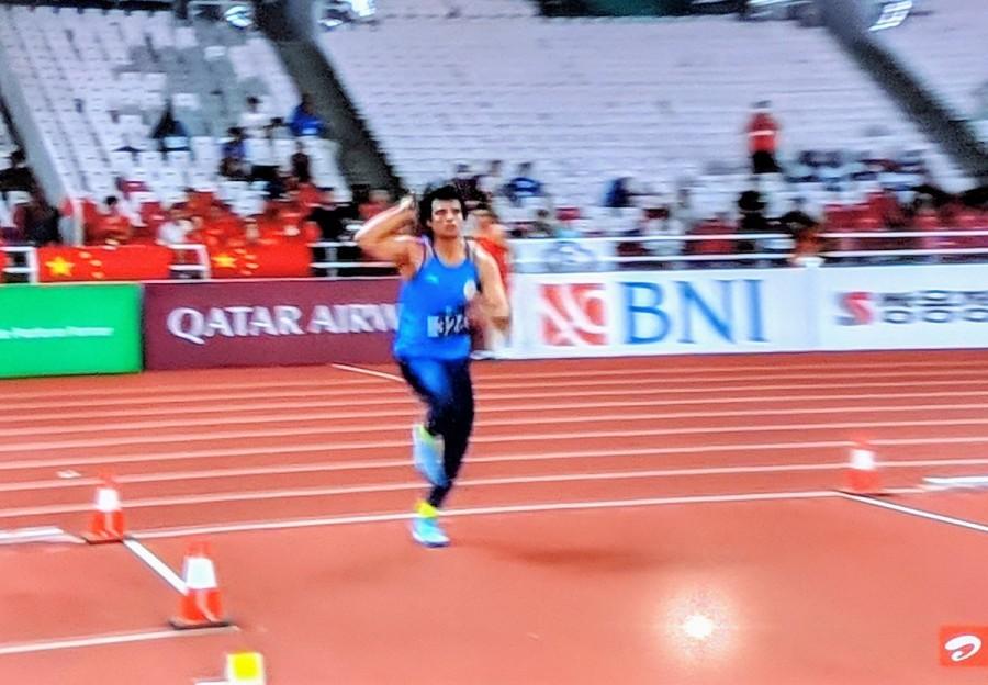 Neeraj Chopra,neeraj chopra javelin throw,Neeraj Chopra gold,Neeraj Chopra Asian Games,Mens Javelin throw