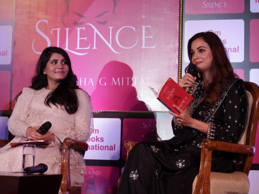 Dia Mirza,actress Dia Mirza,The Sound Of Silence,The Sound Of Silence book,The Sound Of Silence book launch,Dia Mirza launches debut collection of poems