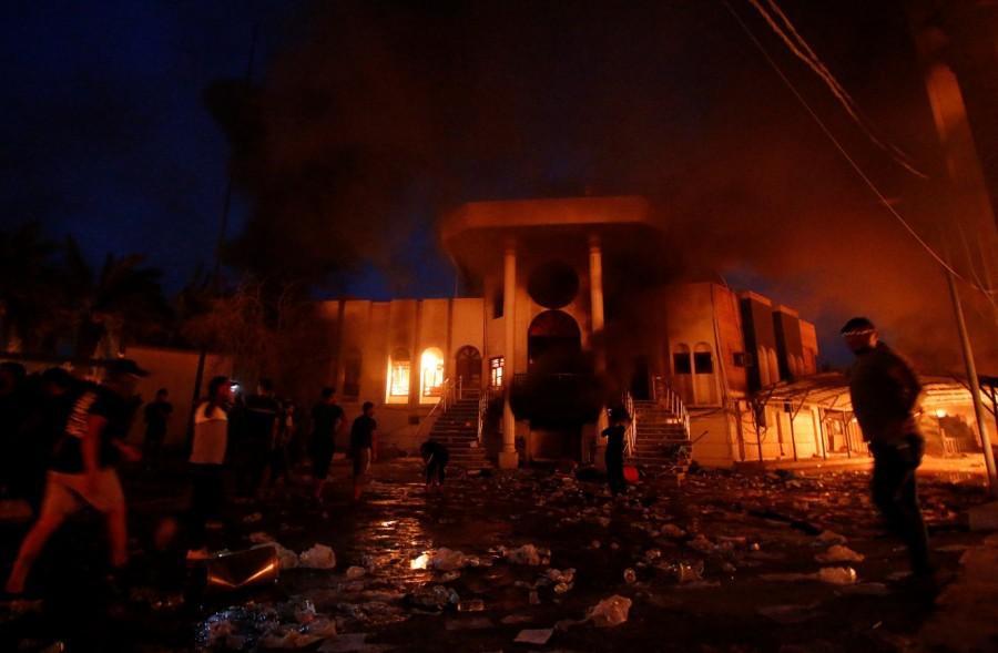 Iraq protests,Iran consulate,Iranian consulate,Basra