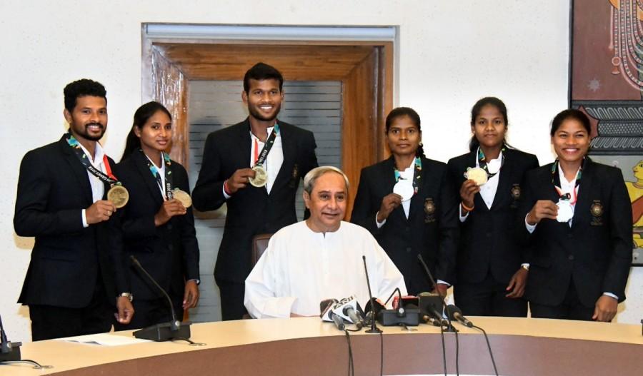 Chief Minister Naveen Patnaik,Naveen Patnaik,CM Naveen Patnaik,Asian Games medal winners,Asian Games winners
