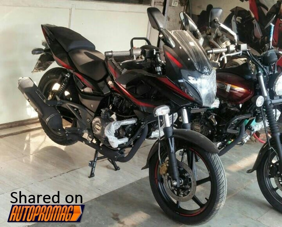 new bajaj pulsar 220f spotted for the first time to be launched