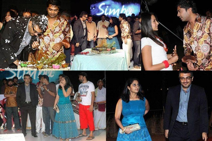 Ajith-Shalini Wish Simbu on his Birthday