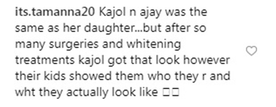 Nysa Devgn falls prey to racist comments