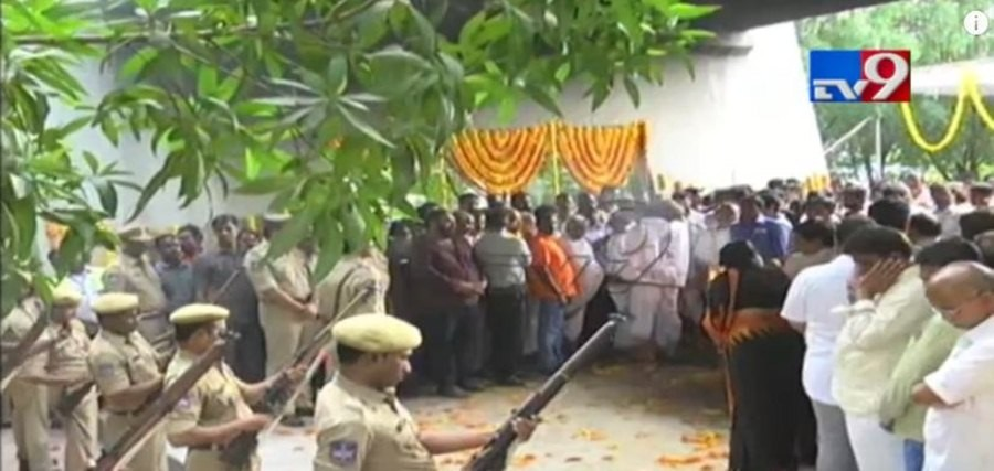 Nandamuri Harikrishna laid to rest with the state honour