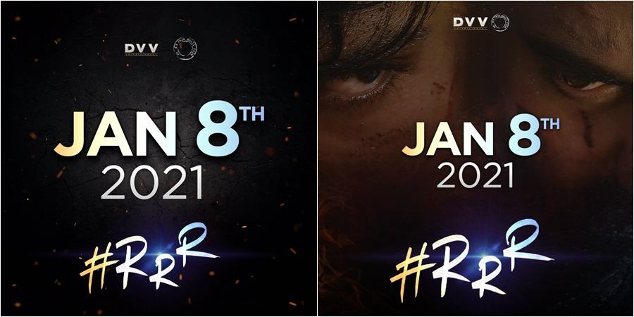 RRR movie release date posters