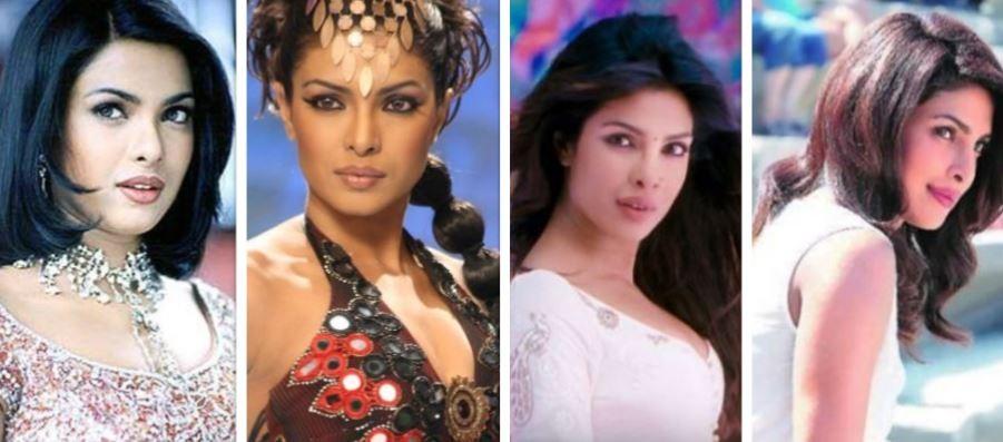 Priyanka Chopra then and now